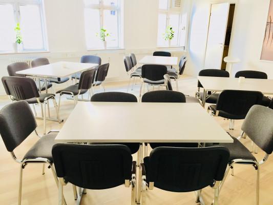 Undervisningslokale på 1. sal